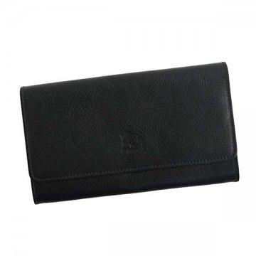 IL BISONTE イルビゾンテ C1059 BK 153フラップ長財布【】【新品/未使用/正規品】