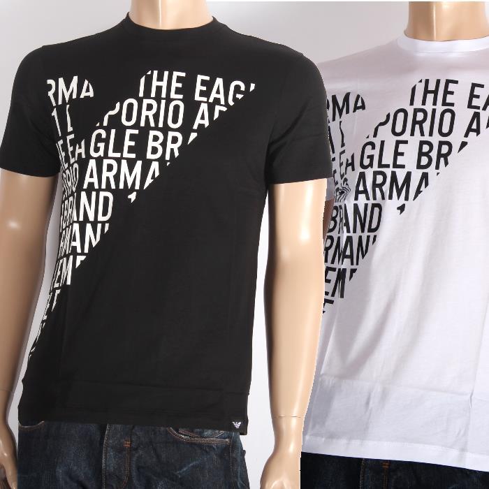【決算セール】EMPORIO ARMANI エンポリオアルマーニ 半袖Tシャツ 3Z1T72 1JPZZ ホワイト0100 ブラック0999 ロゴイーグル メンズ【新品・未使用・正規品】売れ筋