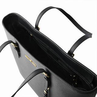b4494c8ac9ea4f ... Michael Kors MICHAEL KORS 30S4GTVT2L 001 BLACK MK charm zip tote bag  medium JET SET TRAVEL