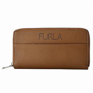 フルラ FURLA 938276 COGNAC メンズ ラウンドファスナー長財布 パンチング加工ロゴ ULISSE【r】【新品・未使用・正規品】