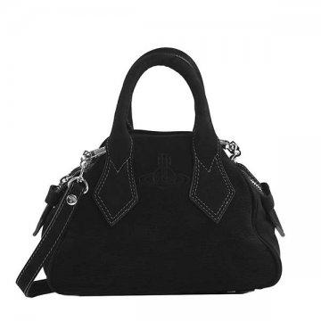 ヴィヴィアンウエストウッドVivienneWestwood 45030001 YASMINE BLACKハンドバッグ【】【新品/未使用/正規品】