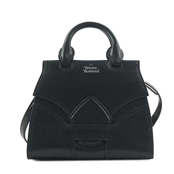ヴィヴィアンウエストウッドVivienneWestwood 45030002 ROSIE BLACKハンドバッグ【】【新品/未使用/正規品】