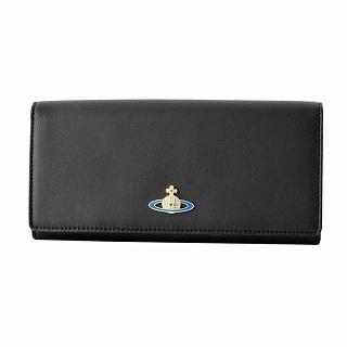 ヴィヴィアン ウエストウッド Vivienne WestWood 51040001 40151 BLACK NAPPA 二つ折り長財布【r】【新品・未使用・正規品】