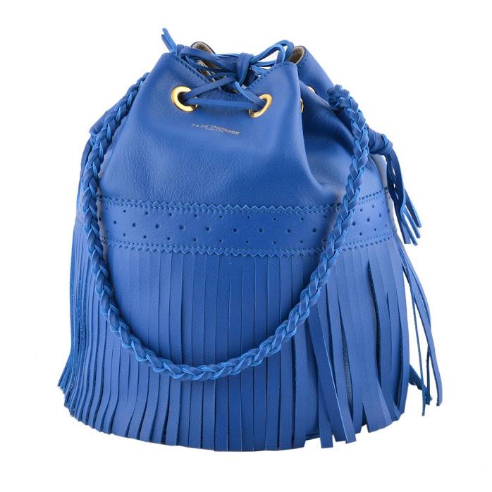 ジェイアンドエムデヴィッドソン J&M DAVIDSON 815 7314 3780 Majorelle Blue カーニバル L フリンジ 巾着型 ショルダーバッグ CARNIVAL L【r】【新品・未使用・正規品】