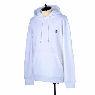 DIESEL ディーゼル パーカーフードスウエットシャツ 00SHEF 0NAUW 100ホワイト【c】【新品/未使用/正規品】