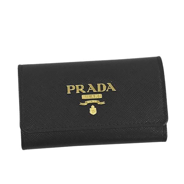 PRADA プラダ 1PG004 QWA キーケース BK F0002ブラック【】【新品・未使用・正規品】