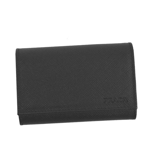 PRADA プラダ 2PG002 053 キーケース F0002ブラック 新品 おしゃれ BK 未使用 大規模セール 正規品