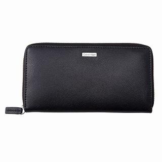 2019 カルバンクライン Calvin Klein 79865 BLACK c 正規品 新品 注文後の変更キャンセル返品 ラウンドファスナー長財布ブラック お中元 未使用