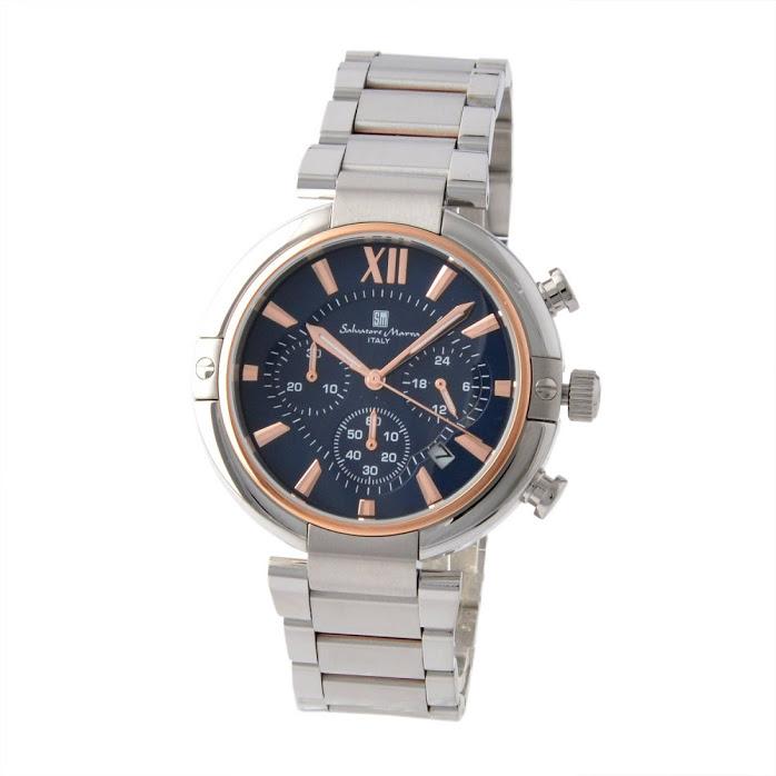 2020 サルバトーレ 大注目 マーラ Salvatore Marra SM17106-PGBL メンズ 腕時計 未使用 新品 r クロノグラフ 正規品 卓越