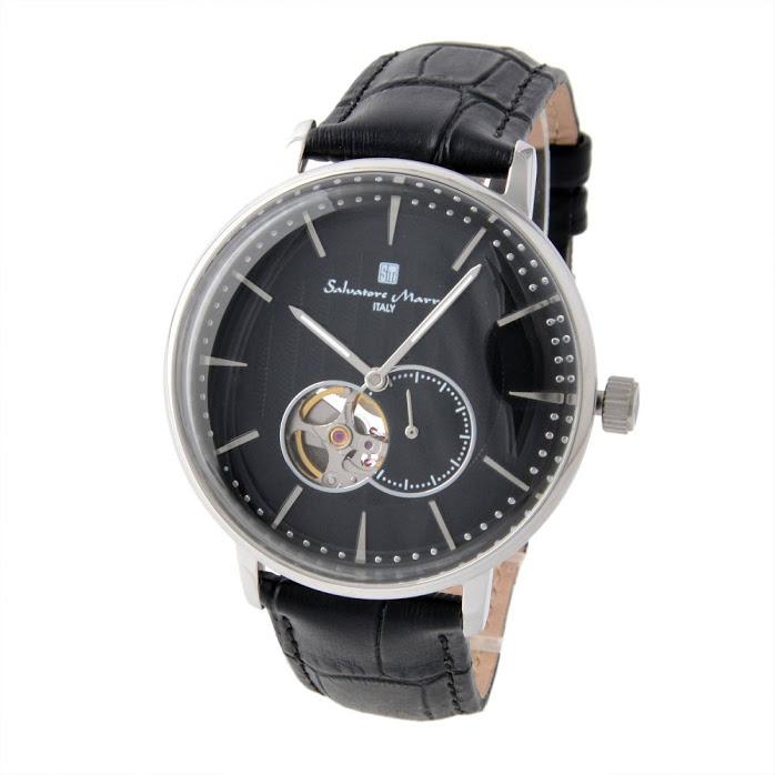 サルバトーレ・マーラ Salvatore Marra SM17114-SSBK メンズ 自動巻き 腕時計【r】【新品・未使用・正規品】