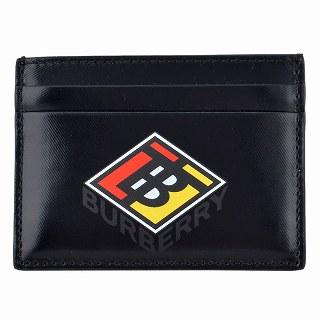 バーバリー BURBERRY 8021767 BLACK ロゴグラフィック カードケース SANDON【r】【新品・未使用・正規品】