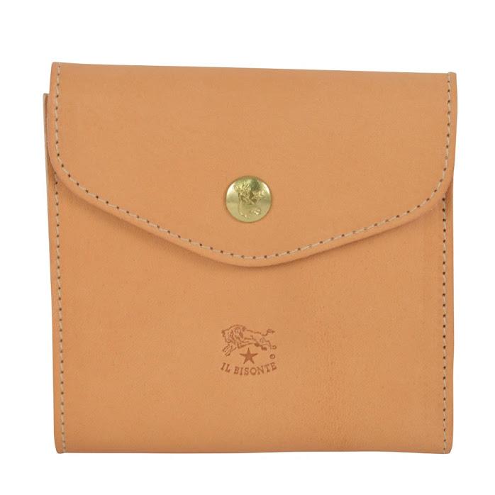 イルビゾンテ IL BISONTE C0424 120 NATURALE 二つ折り財布【r】【新品・未使用・正規品】
