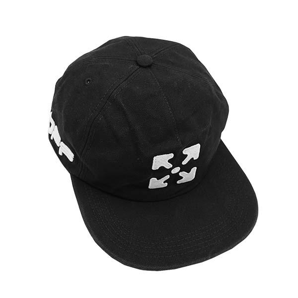 エントリーポイント10倍!オフホワイト OMLB022R20G81020キャップ BK 1001ブラック帽子【】【新品/未使用/正規品】