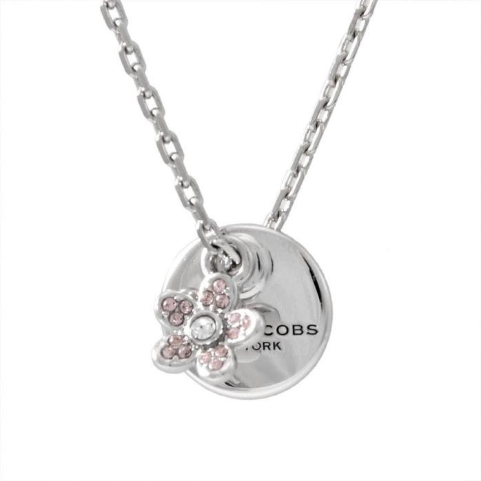 マークジェイコブス MARC JACOBS M0012398-040 Silver コイン デイジー ペンダント ネックレス MJ Coin Daisy Crystal Pendant【r】【新品・未使用・正規品】