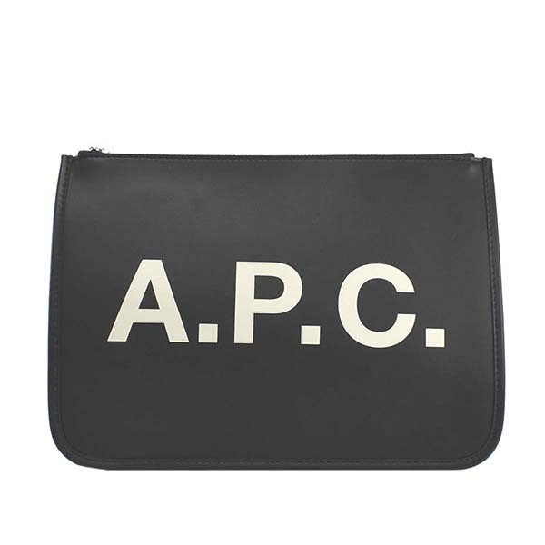 アーペーセー APC M63383 PUAAO LZZ ポーチ BKブラッククラッチバッグ【】【新品/未使用/正規品】