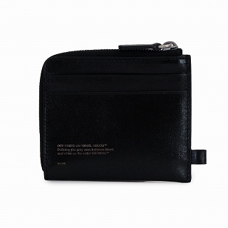送料無料 2020 出荷 オフホワイト OFF WHITE OMNC013R208530211001 信憑 正規品 ブラック 二つ折り財布チェーンウォレット 未使用 新品 c