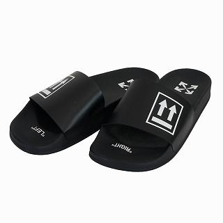 <title>送料無料 OFF-WHITE オフホワイト シャワーサンダル ブラックOMIA088R20C220561001 スライダー シューズ 靴 マーケティング VIRGIL ABLOH ヴァージル アブロー メンズ 新品 未使用 正規品</title>