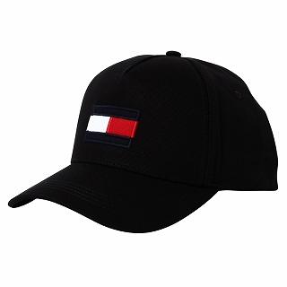2021 トミーヒルフィガー 超特価SALE開催 TOMMY HILFIGER AM0AM06585BDS CAPキャップ 帽子 正規品 ブラック 新品 フラッグ 激安 未使用 c