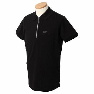 2021 全品送料無料 ディーゼル DIESEL 00S6CQ 0PAXD 900 ポロシャツ 新品 未使用 ジップ 正規取扱店 ブラック c 正規品 半袖