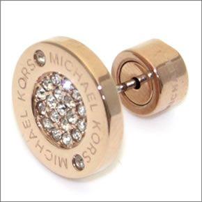 Michael Kors Pave Rose Gold Tone Stud Earrings パヴェロゴディスクピアス Mkj3353791