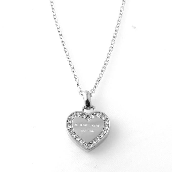 015d5a821c3d Michael Kors MICHAEL KORS パヴェハートチャームネックレス   pendant Pave Silver-Tone Heart  Charm Pendant Necklace MKJ3970040 necklace