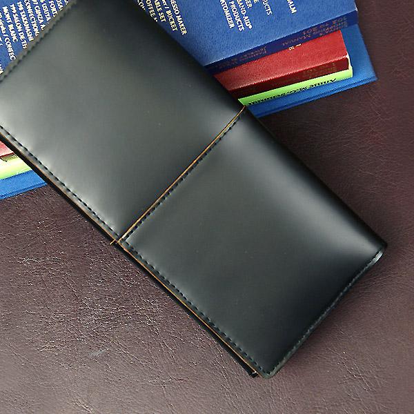 【送料無料】COMPLEX GARDENS:枯淡(コタン):ファスナーポケット付ガラス加工レザー長財布[3698] *牛革/日本製/メンズ革小物/色:ブラック*