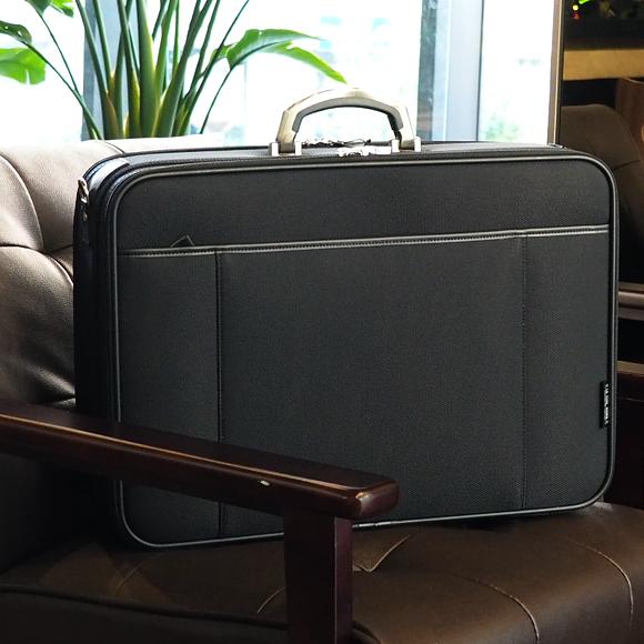 [青木鞄] オプス:A3対応 鍵付 2wayソフトアタッシュケース L[6773] 【送料無料/代引手数料無料】 LA FERE Ops *日本製 ナイロン 施錠 キーロック 肩掛け ビジネスバッグ 鞄 メンズ ブラック*