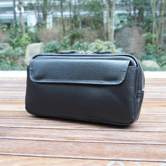 [青木鞄] バルボス:2wayショルダーバッグ[4302] 【送料無料】 Lugard BALBOS *日本製 牛革 エンボスレザー セカンドバッグ 鞄 メンズ ブラック* 【ラッキーシール対応】