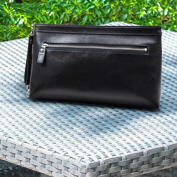 [青木鞄] バルボス:クラッチ両用2wayセカンドバッグ M[4308] 【送料無料】 Lugard BALBOS *日本製 牛革 エンボスレザー クラッチバッグ 鞄 メンズ ブラック*