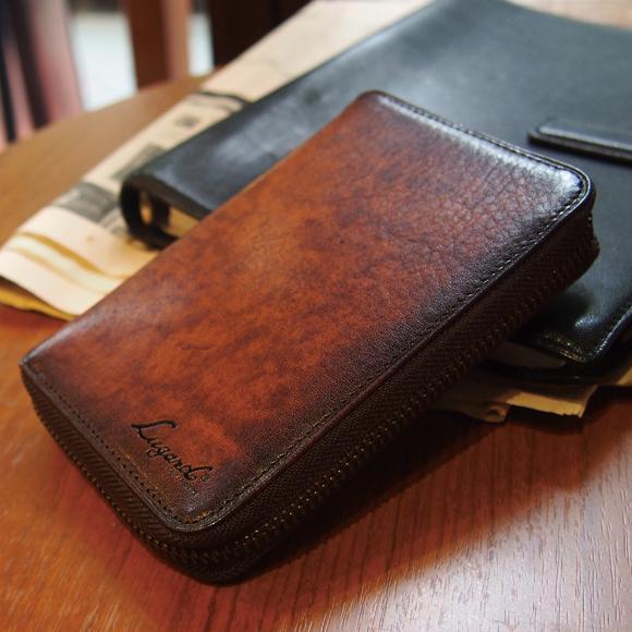[青木鞄] G-3(ジースリー):ラウンドファスナー縦型二つ折り財布[5190] 【送料無料】 Lugard G3 *牛革 二つ折り財布 ウォレット メンズ ブラック ブラウン ネイビー*