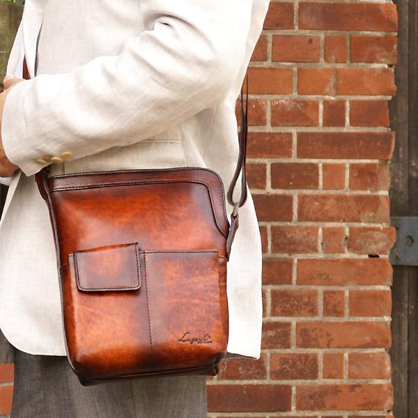 [青木鞄] G-3(ジースリー):バケツ型ショルダーバッグ[5215] 【送料無料】 Lugard G3 *日本製 牛革 肩掛け 斜め掛け 鞄 メンズ ブラウン ネイビー ボルドー* 父の日/誕生日/クリスマス/新生活/プレゼント*