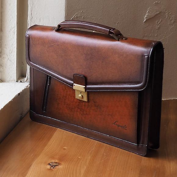 [青木鞄] G-3(ジースリー):B4対応 鍵付 ブリーフケース[5223] 【送料無料/代引手数料無料】 Lugard G3 *日本製 牛革 キーロック 施錠 ビジネスバッグ 鞄 メンズ ブラウン* 【ラッキーシール対応】