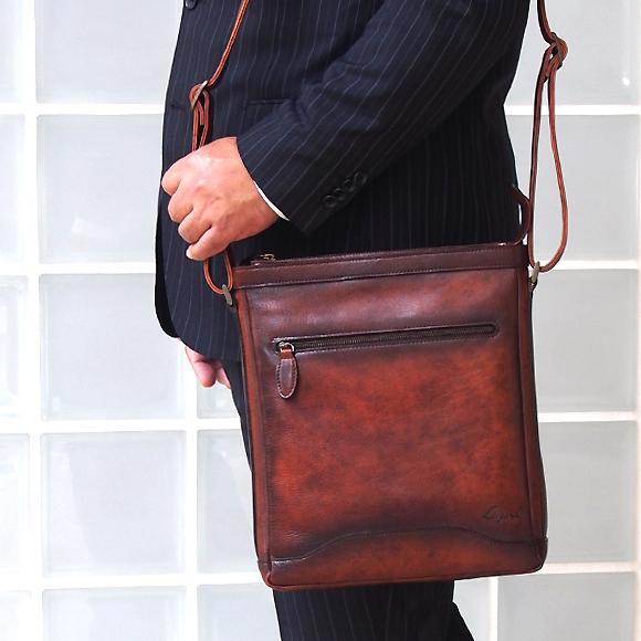 [青木鞄] G-3(ジースリー):ショルダーバッグ L[5227] 【送料無料/代引手数料無料】 Lugard G3 *日本製 牛革 肩掛け 斜め掛け 鞄 メンズ ブラウン ネイビー* 【ラッキーシール対応】