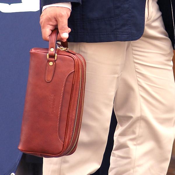 [青木鞄] ネヴァダ:2室型セカンドバッグ[4972] 【送料無料】 Lugard NEVADA ネバダ *日本製 牛革 ヌメ革 コンパートメント クラッチバッグ 鞄 メンズ ブラック ブラウン* 【ラッキーシール対応】