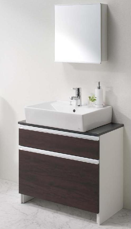 ジャニス工業 洗面化粧台 LU753CSD-19/収納付化粧鏡 LUM451CS 送料無料 【代引き不可】