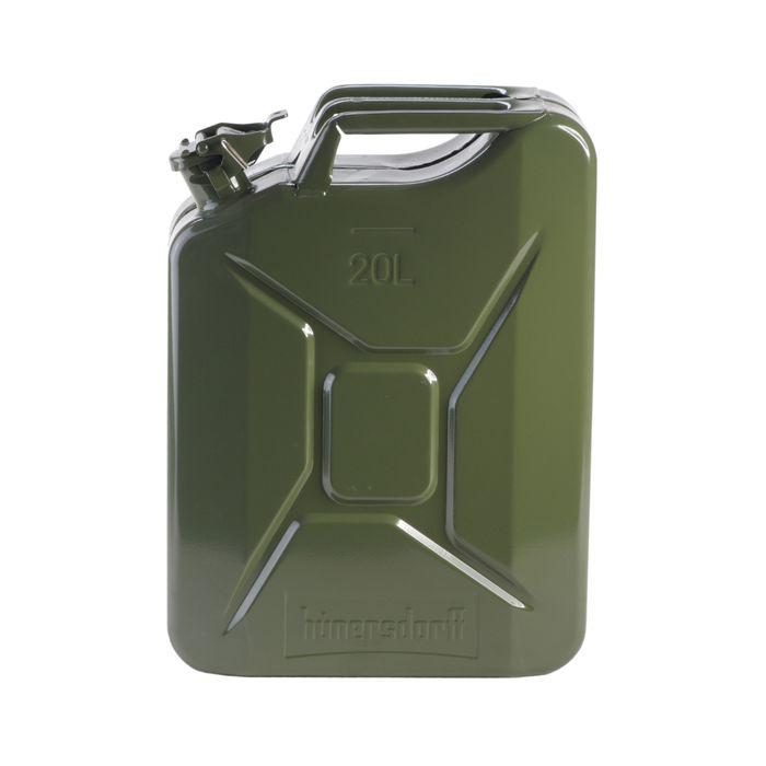 UN 国連規格 認定 Metal Kanister 灯油 ホワイトガソリン等に対応 安心のドイツ製 正規品 送料無料 hunersdorff 燃料タンク 20L 豊富な品 ウォータータンク オリーブ キャンペーンエントリーでポイント5倍 メタルキャニスター ヒューナースドルフ