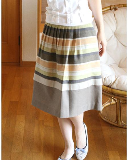 ☆選べるレディース服3点福袋対象商品☆ランダムボーダー・光沢スカート(返品・交換・ギフト包装不可)