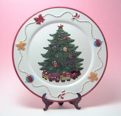 【お買い得!】クリスマスツリー・プレート(返品・交換・ギフト包装不可)