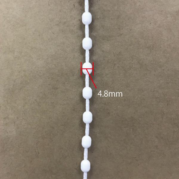 ローマンシェード 交換無料 ワンチェーン用 ループ150cm シェード ループチェーン 150cm 安い TOSO ボールチェーン 4.8mm クリエティ 1周300cm ホワイト