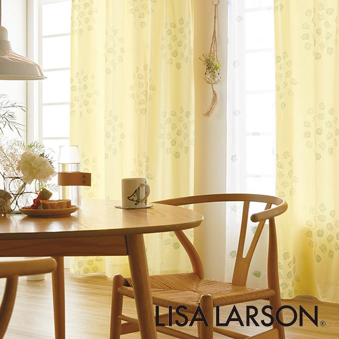 北欧カーテン リサラーソン LISA LARSON ハリネズミ イエロー オーダーカーテン 北欧ブランドカーテン 動物 アニマル ポップ スウェーデン おしゃれ かわいい リサ・ラーソン 綿100% プリント 黄色