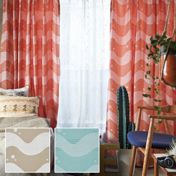 シェードカーテン ローマンシェード 小窓 オーダー ウェーブ