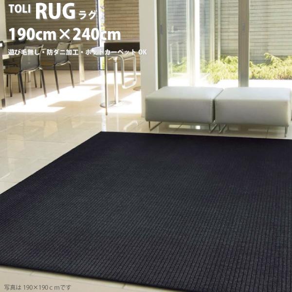 東リ ラグ TOR3844-L サイズ 190×240cm TOLI ラグマット 遊び毛無し 防ダニ加工 ホットカーペットOK 床暖房対応 シンプル 平織ラグ リビング マット カーペット センターラグ 敷物 絨毯 じゅうたん 北欧 日本製
