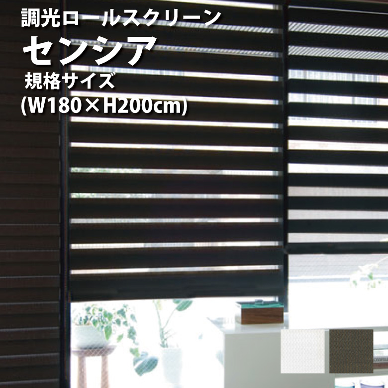 ロールスクリーン ターンアップスクリーン センシア 規格サイズ W180~H200cm 2カラー ロールスクリーン ロールカーテン rollscreen 取り付け オーダー 北欧 和風 柄 調光 小窓 TOSO トーソー