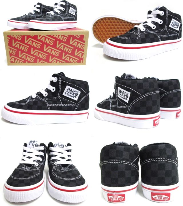 f623a2bd4d cutback  VANS (vans) Kids Half Cab (Tonal Check) Black (14.5-17.5cm) (half  cab kids kids shoes shoes USA model checkerboard)