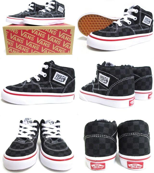 778a856ab0d cutback  VANS (vans) Kids Half Cab (Tonal Check) Black (14.5-17.5cm) (half  cab kids kids shoes shoes USA model checkerboard)