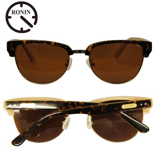 Ronin Eyewear ( ロニンアイウェアー ) 50/50 ミディアム ベッコウフレーム ブラウングラデーションポーラレンズ ( スケートボード スケボー サーフィン ステッカー サングラス ロニンアイウェアースケート フィフティーフィフティー )