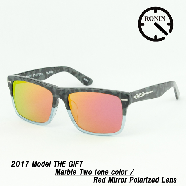 UVカット サングラス Ronin Eyewear ロニンアイウェアー 2017 GIFT Marble Two tone color / Red Mirror Polarized Lens