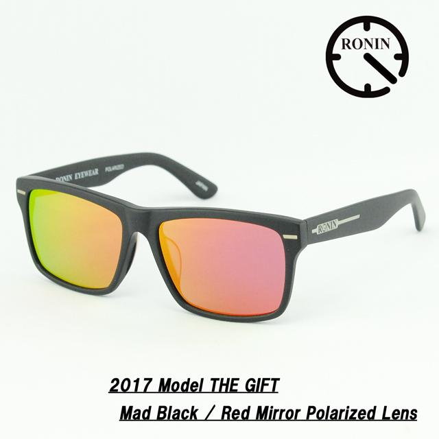 UVカット サングラス Ronin Eyewear ロニンアイウェアー 2017 GIFT Mad Black / Red Mirror Polarized Lens