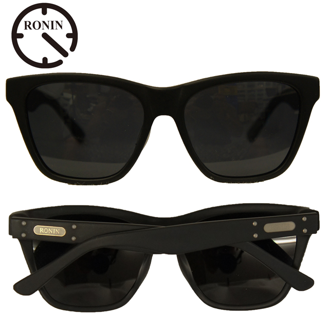 Ronin Eyewear ( ロニンアイウェアー ) Max マットブラックフレーム グレーレンズ ( スケートボード スケボー サーフィン ステッカー サングラス ロニンアイウェアースケート マックス )