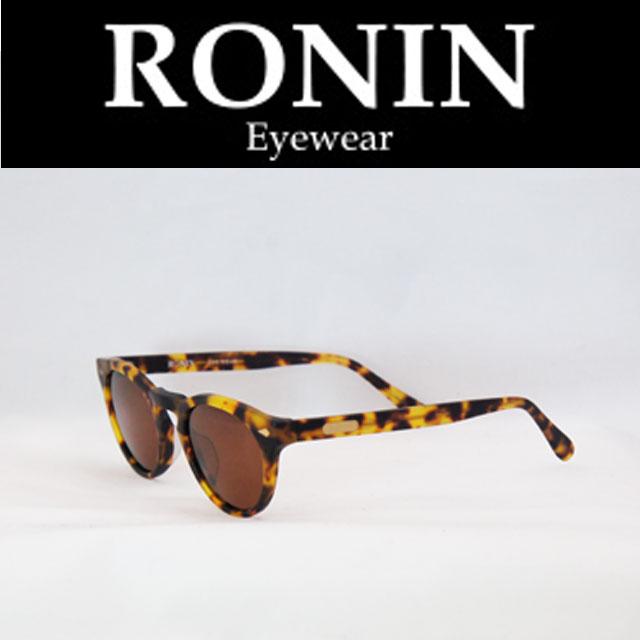 Ronin Eyewear ( ロニンアイウェアー ) DKM  M.べっ甲色/Brown P.Lens ( スケートボード スケボー サーフィン ステッカー) ( サングラス ロニンアイウェアースケート 限定品 )